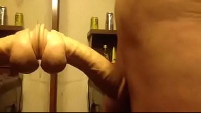 me riding my huge dildo