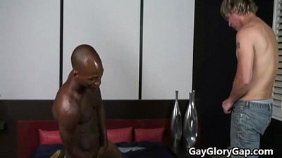 Gay Black Gets His Dick Hard And Sucked By White Twink 18