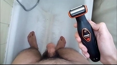 Shaving My Big Thick Sexy Hairy Cock Balls in the BathRoom !!!