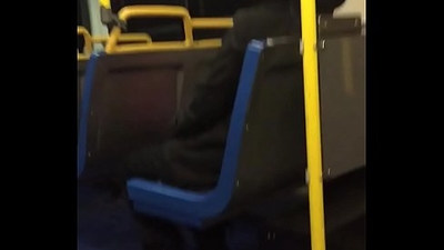 Public Wanker Jerks Cock for Indian Milf on Public Bus pt