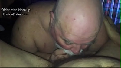 Chubby SIlverdaddy Sucks Cock and Eats my Ass