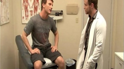 Gay doctor Cameron fuck patient Nash in the office only