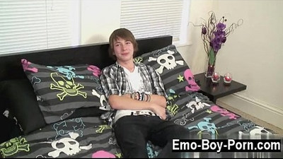Amazing gay scene Cute fresh emo dude Devon commences his movie by