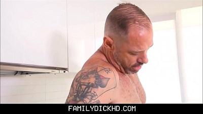 Step Son Sucks Daddys Cock In The Kitchen