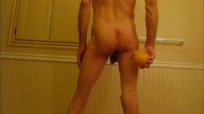 Grapefruit and Ass Stretching Fist Fucking