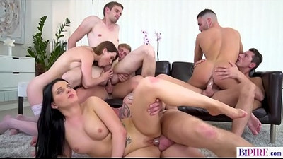 Bisexual anal orgy